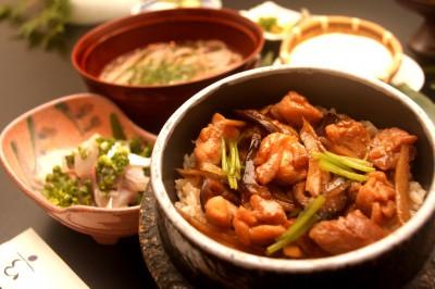 日本料理玄  冠地鶏 釜飯膳